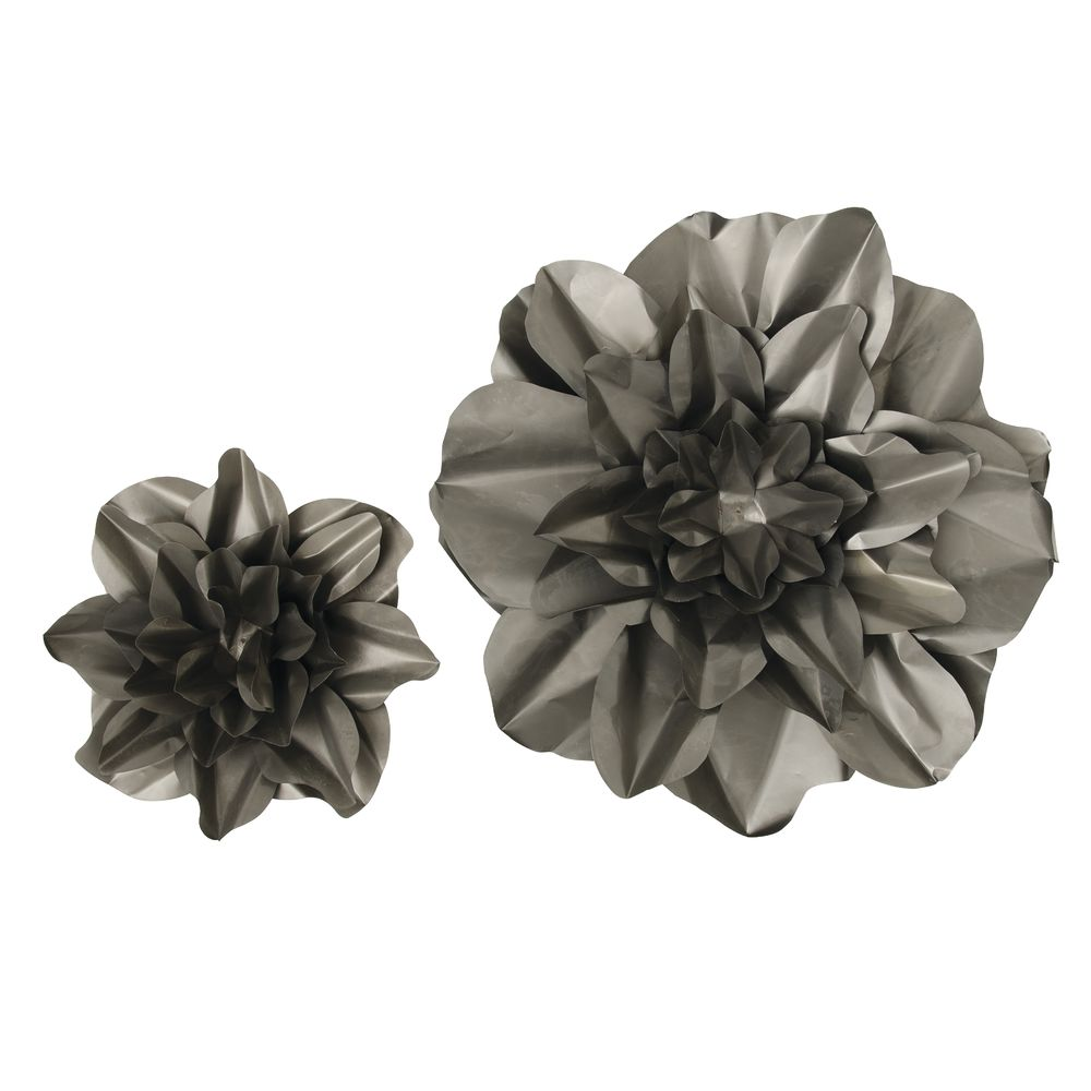 WALL FLOWERS, METAL, HANGING, RAW, ST/2