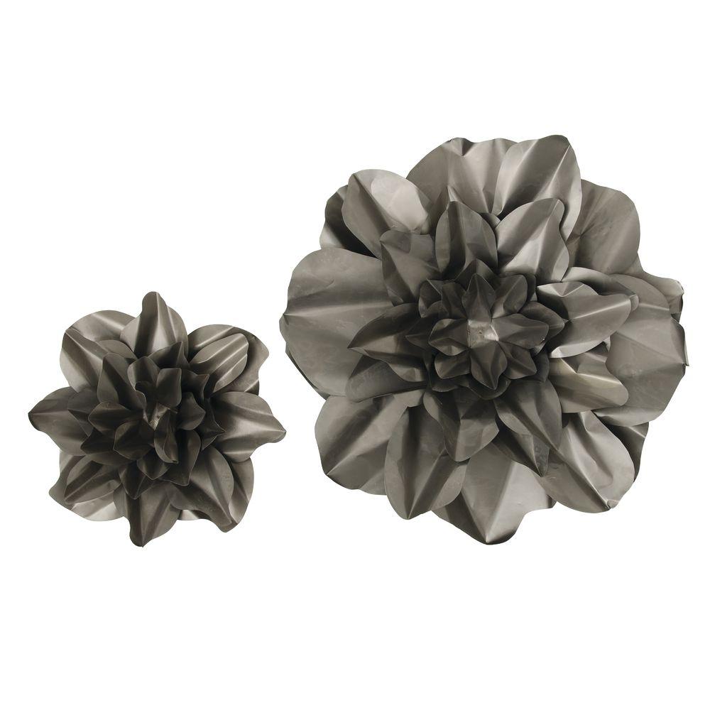 Raw Metal Wall Flowers, Set 2