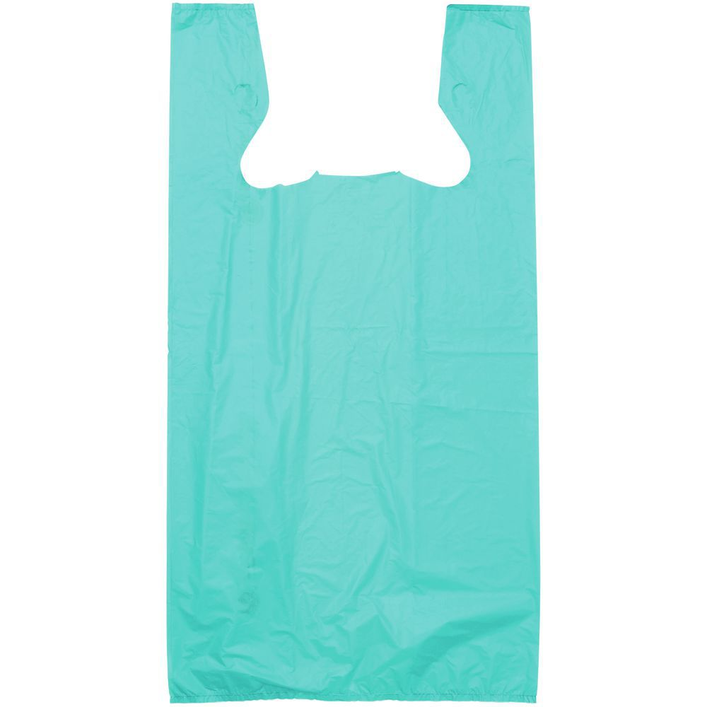 BAG, T-SHIRT, HDPE, .55 MIL, TEAL