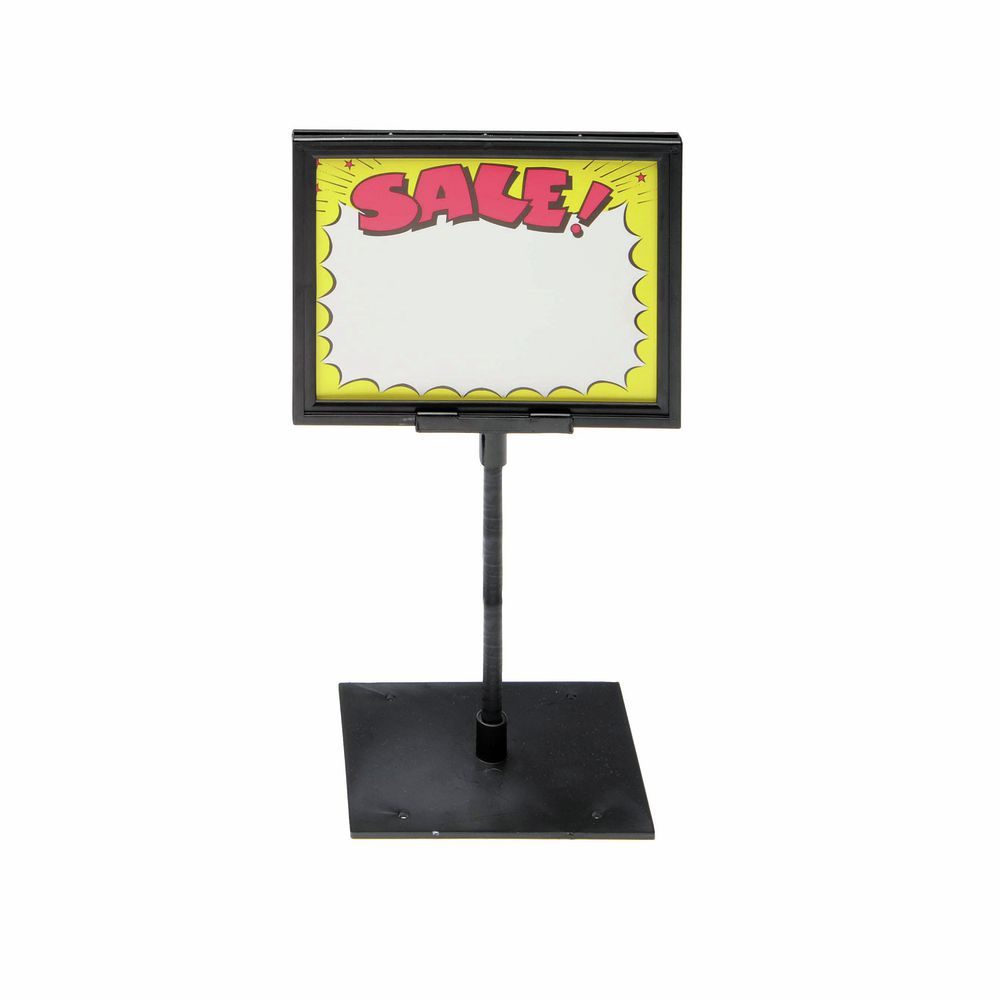 8 12 X 11 Counter Sign Holder 10 Stem With Centered Base