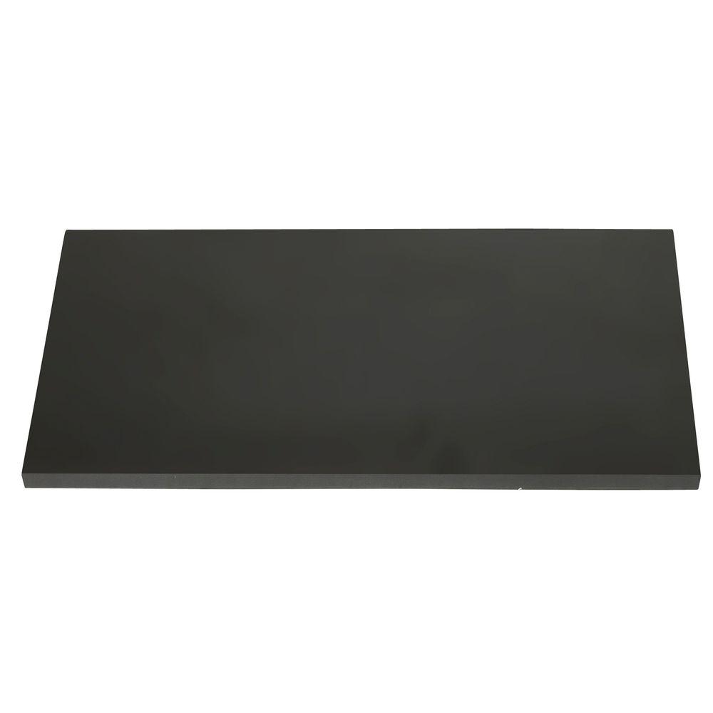 "24"" x 12"" Black Wood Shelf"