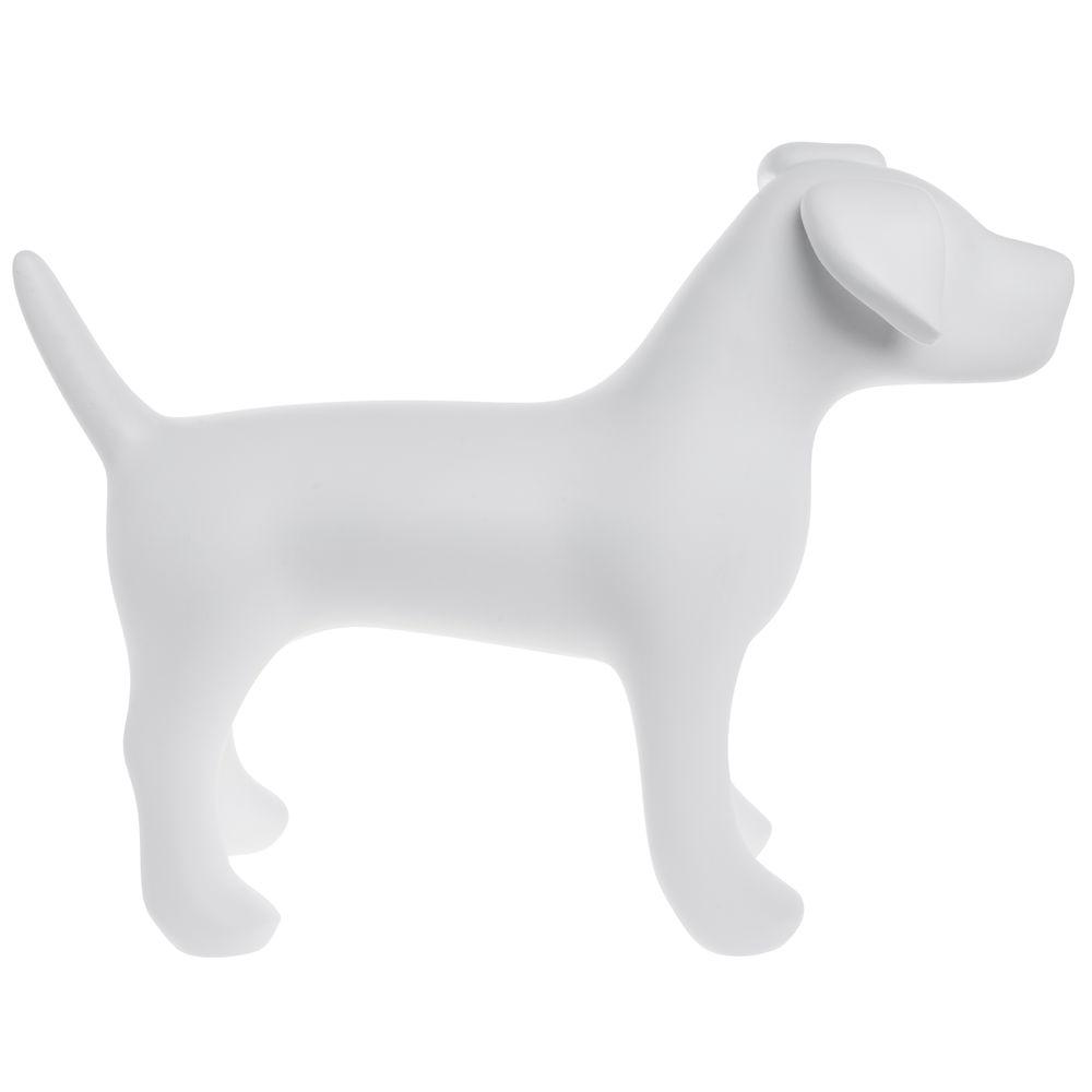 MANNEQUIN, DOG, FIBERGLASS, WHITE