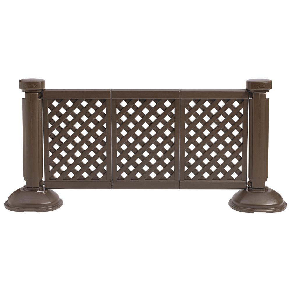 FENCE PANEL, 3 PANEL SECTION, BROWN