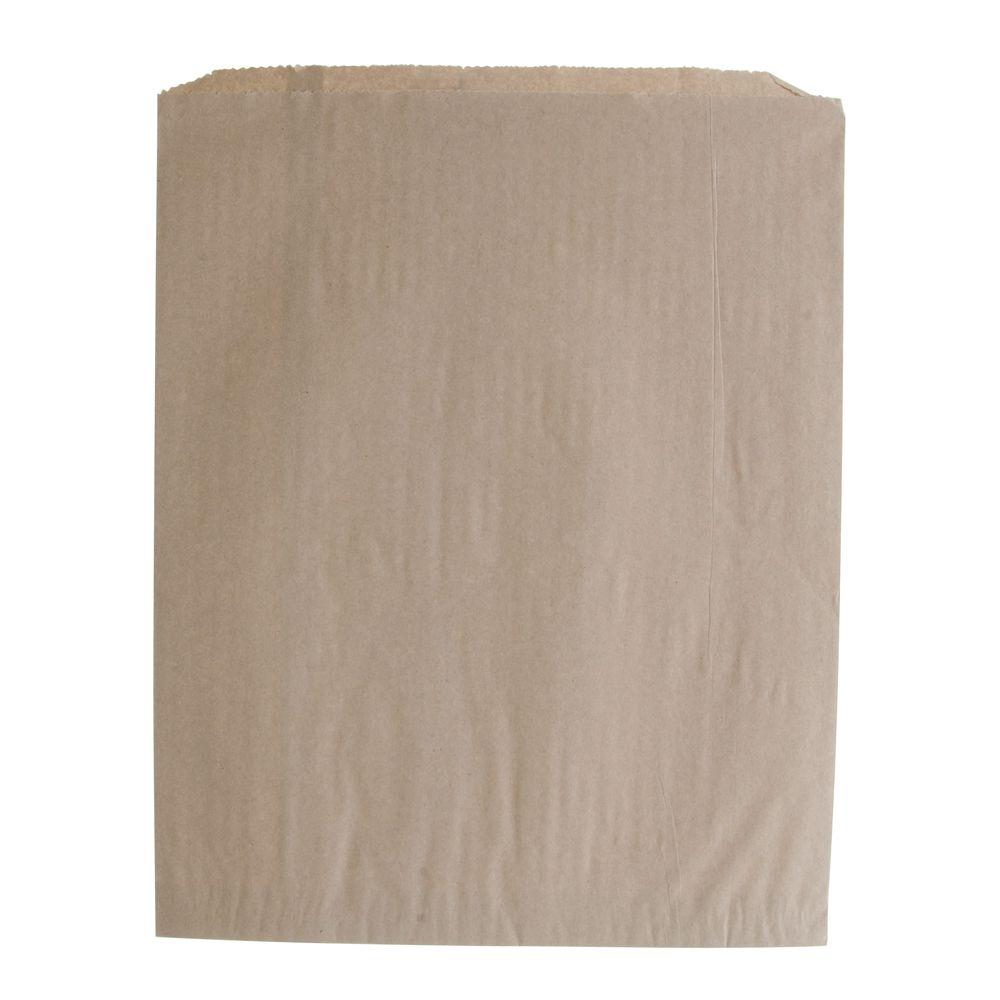 """12"""" x 15"""" Flat Paper Bag, Kraft"""