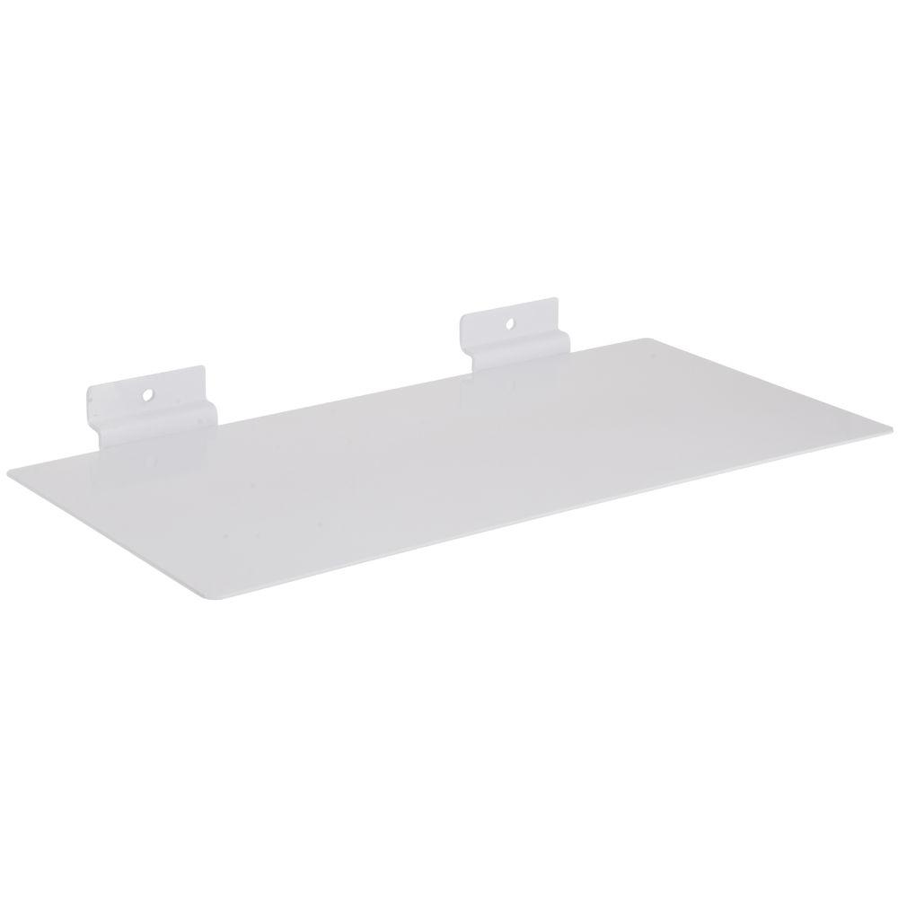 White Metal Slatwall Shelf
