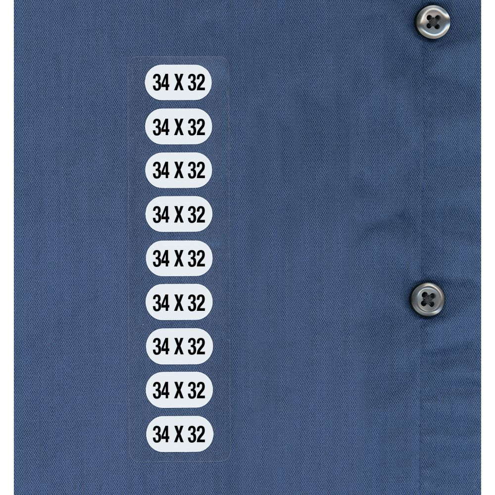 Clothes Size Stickers 34x32
