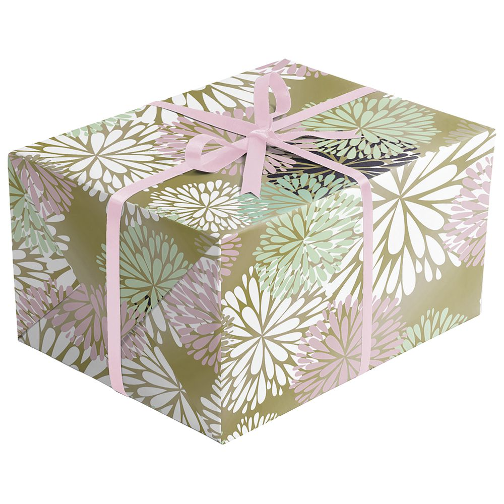 "GIFT WRAP, DELICATE FLOWER, FULL ROLL, 30""W"