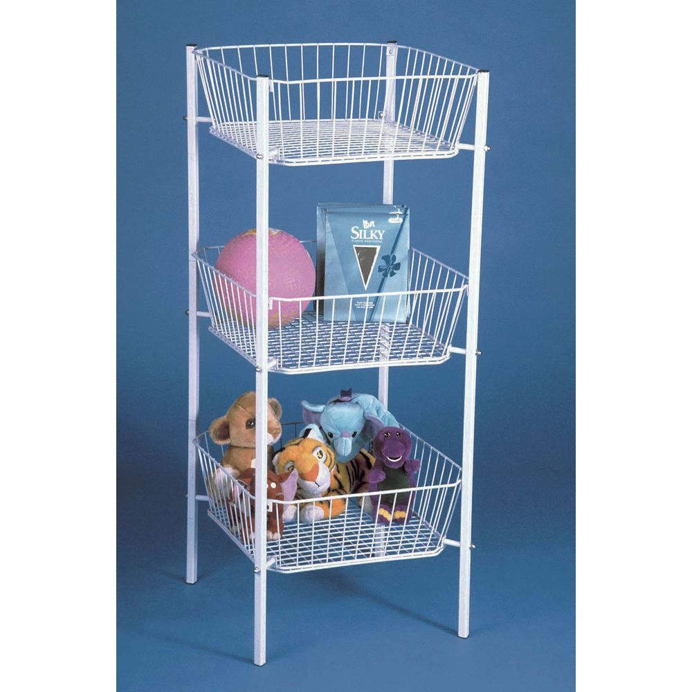 3 Tier Baskets with Tapered Bins