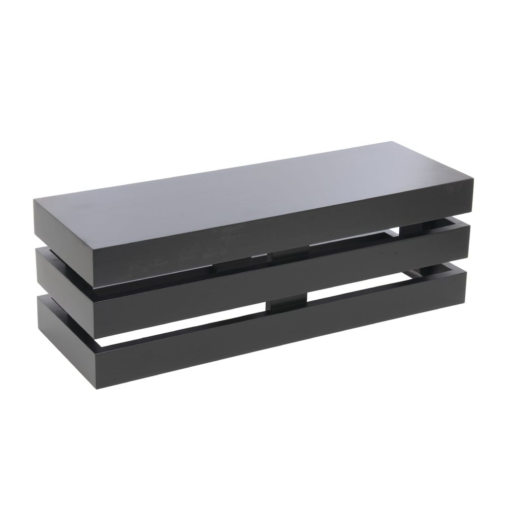 CRATE, RECTANGLE, BLACK, 20LX7WX7H