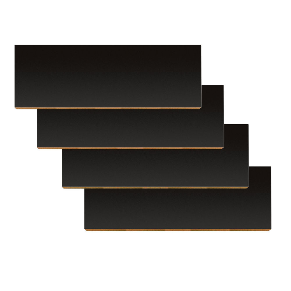 "22 1/2"" x 8"" Slatwall Display Shelf, Black"