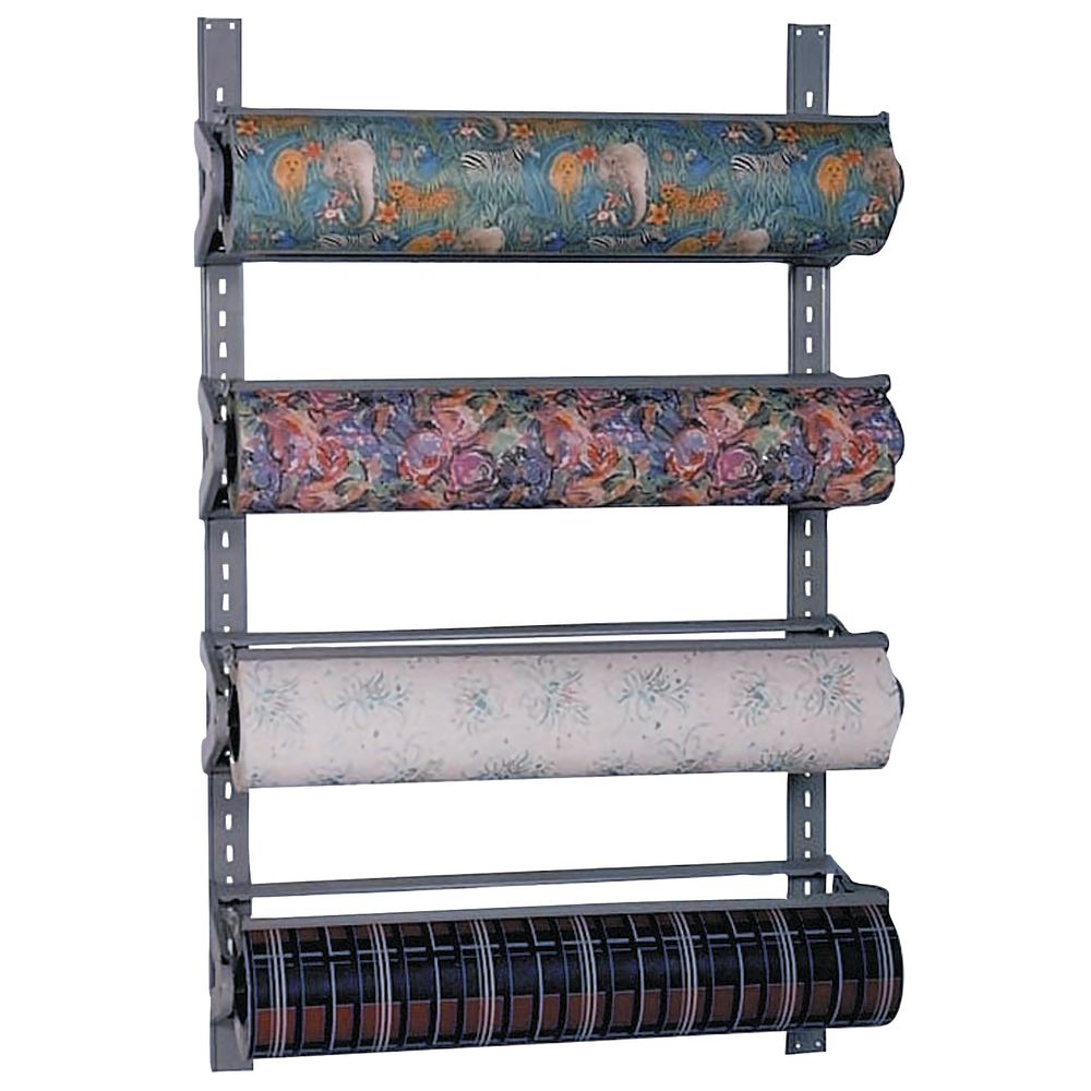 4 Tier Wall Mount Gift Wrap Paper Dispenser