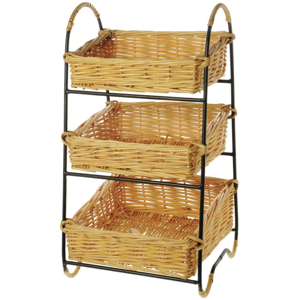 Woven Tiered Baskets 3 Tiers