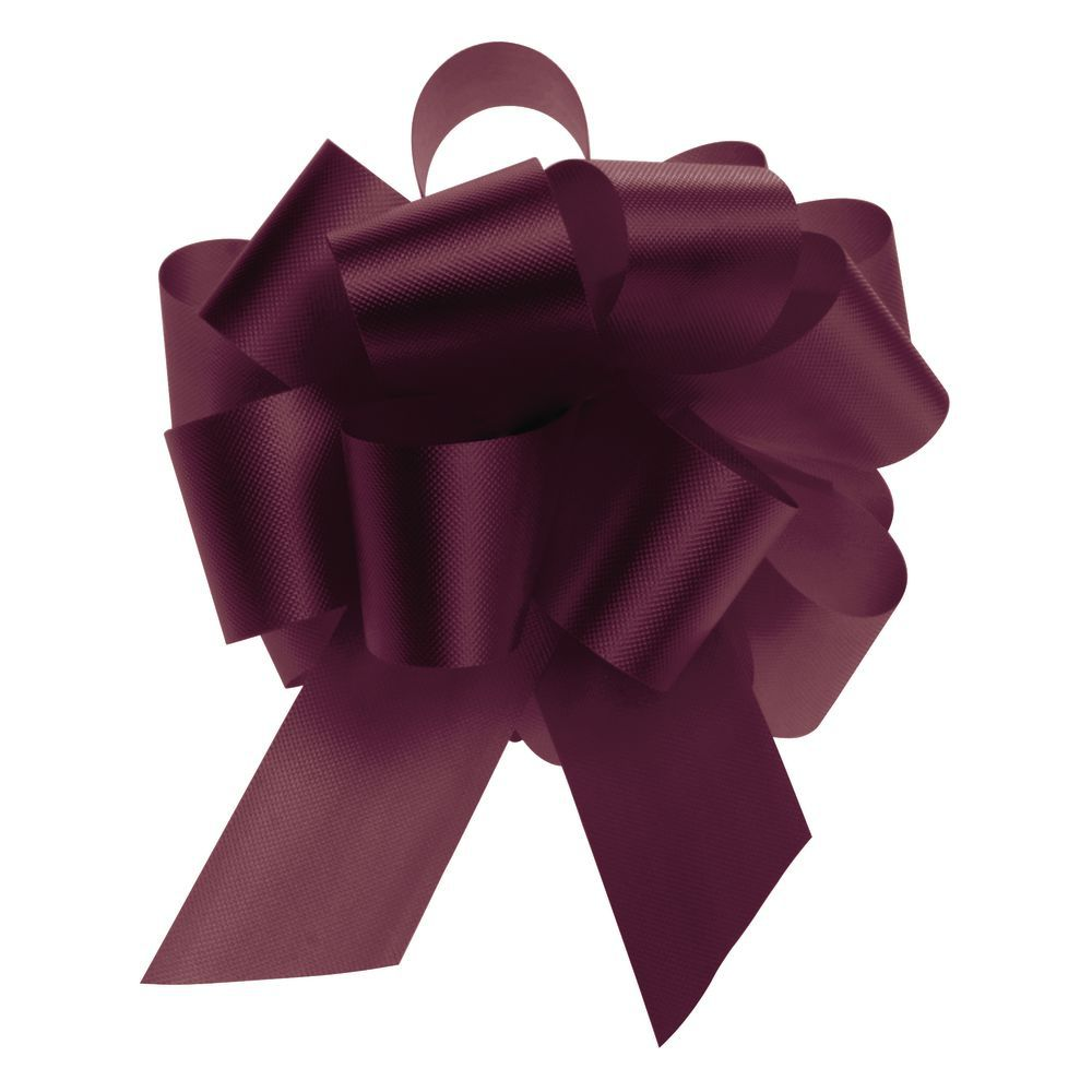 Burgundy Flora-Satin Pull Bows