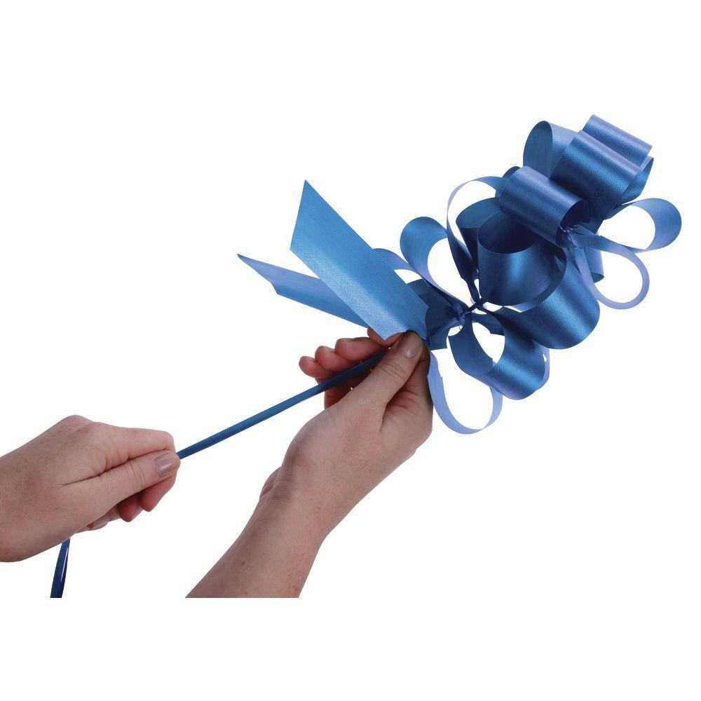 Royal Blue Flora-Satin Pull Bows