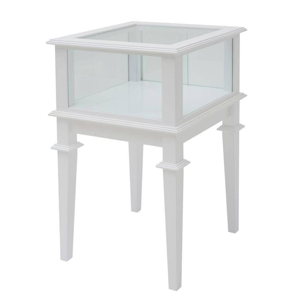 24 x 24 x 38 Wood Display Case White