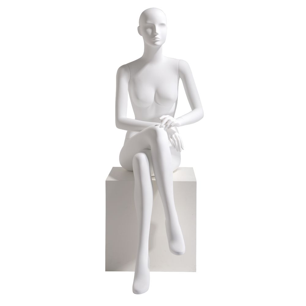 Seated Fiberglass Mannequin, Female