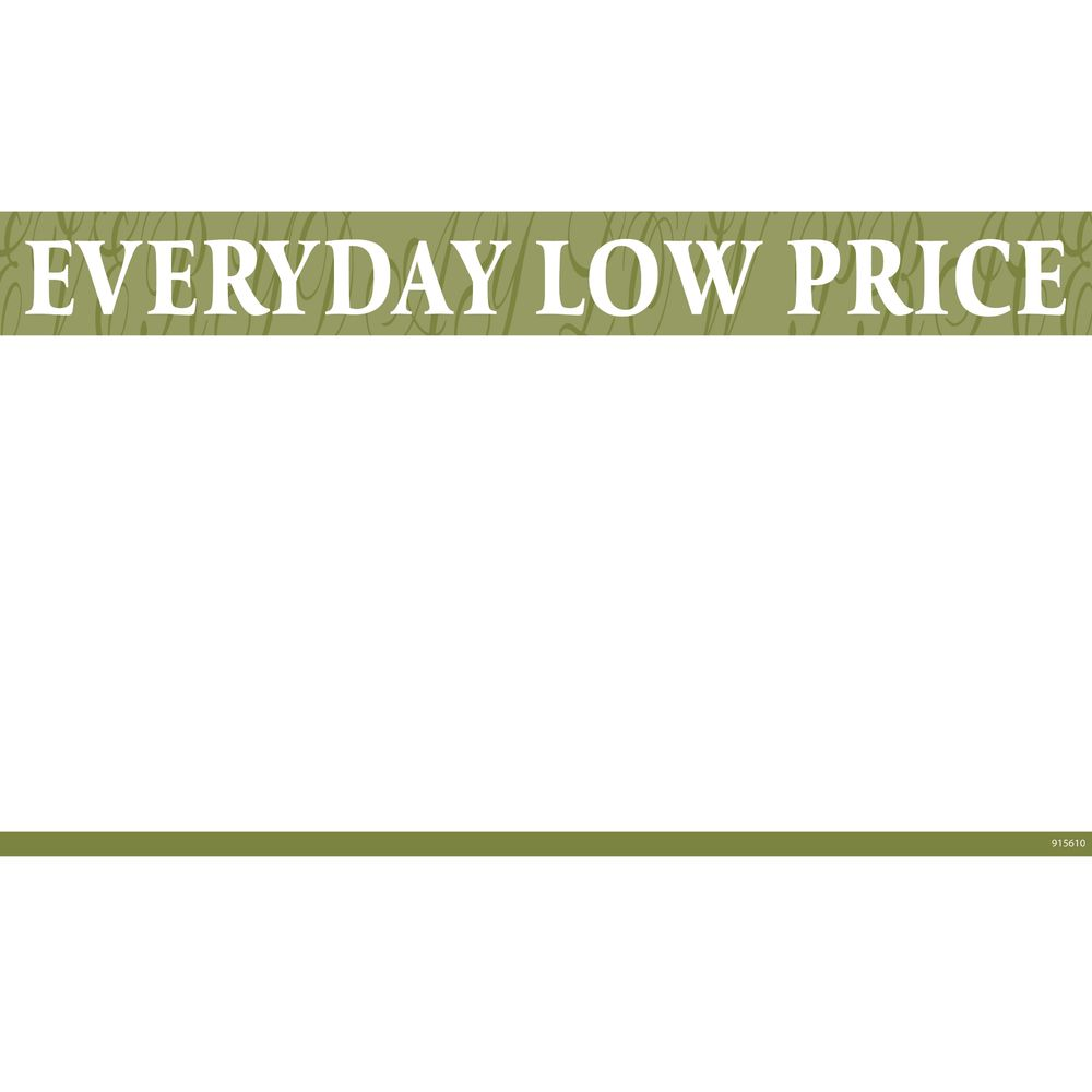 """Everyday Low Price"" Discount Signs, 11 x 7"
