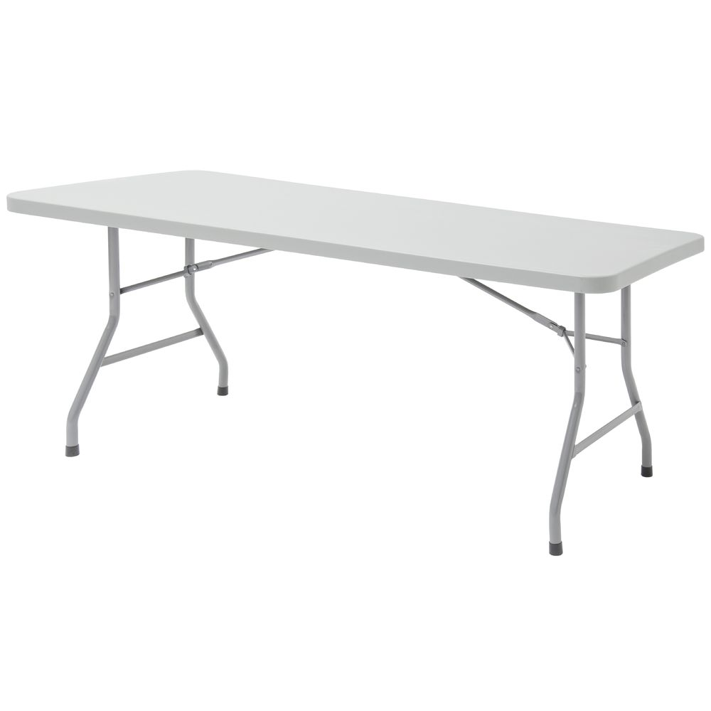 TABLE, 72X30, FOLDING, GREY, PLASTIC