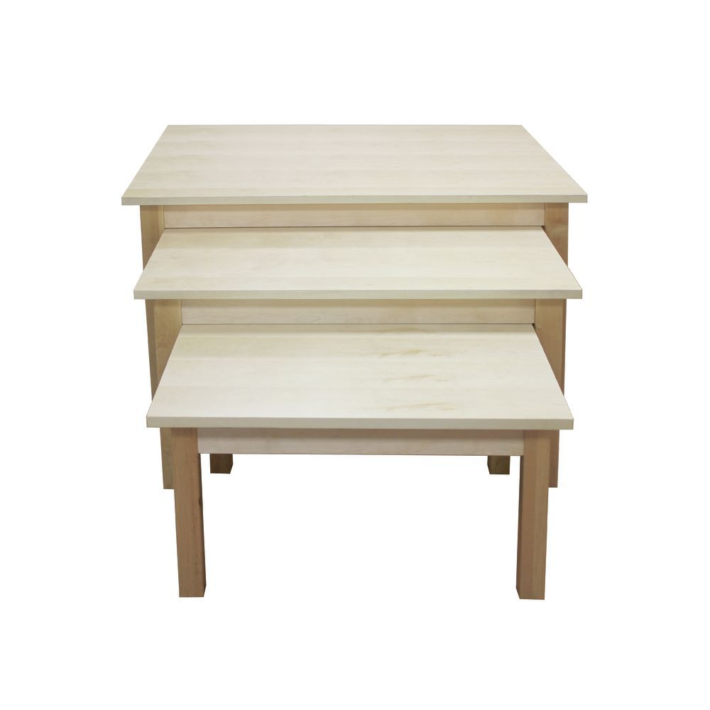 Triple Wooden Nesting Tables