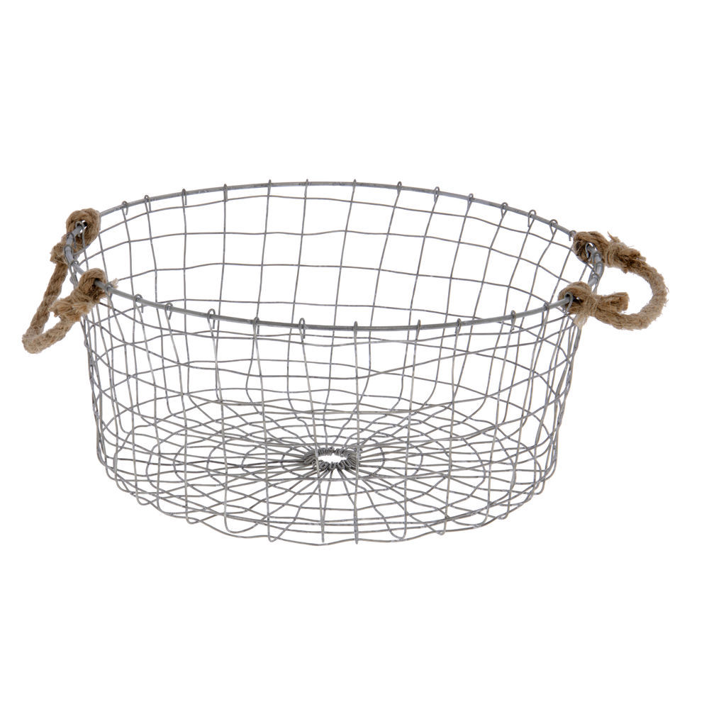 Wire Basket with Rope Handles 14\