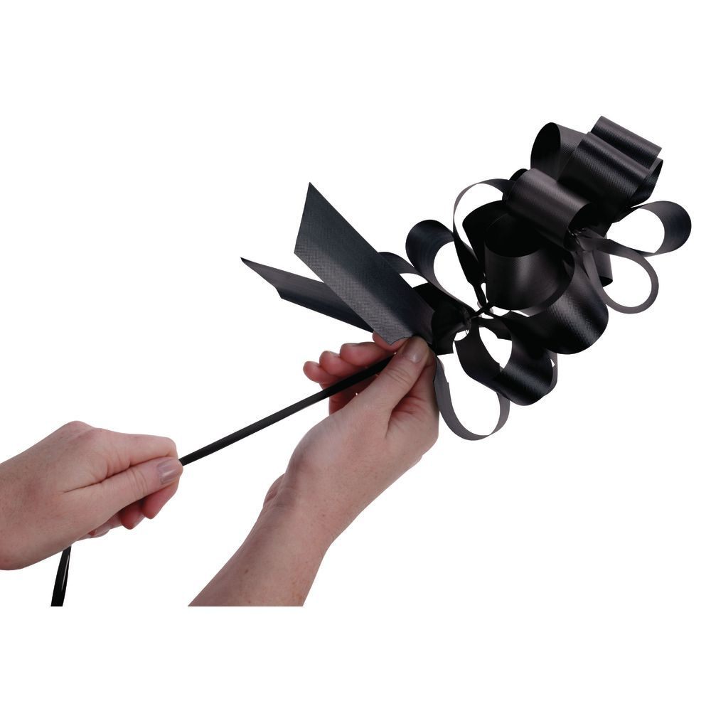 Black Flora-Satin Pull Bows