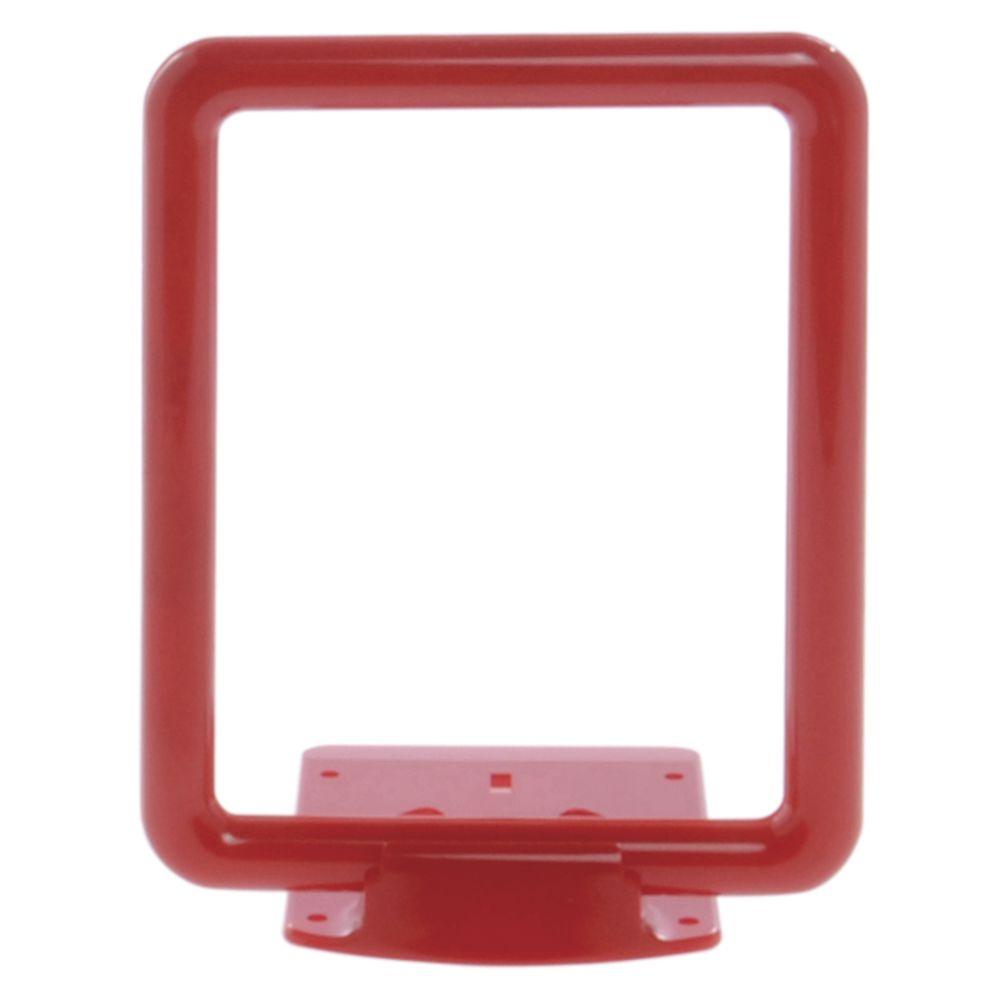 5 1/2 x 7 Retail Sign Display, Red, Wedge Base