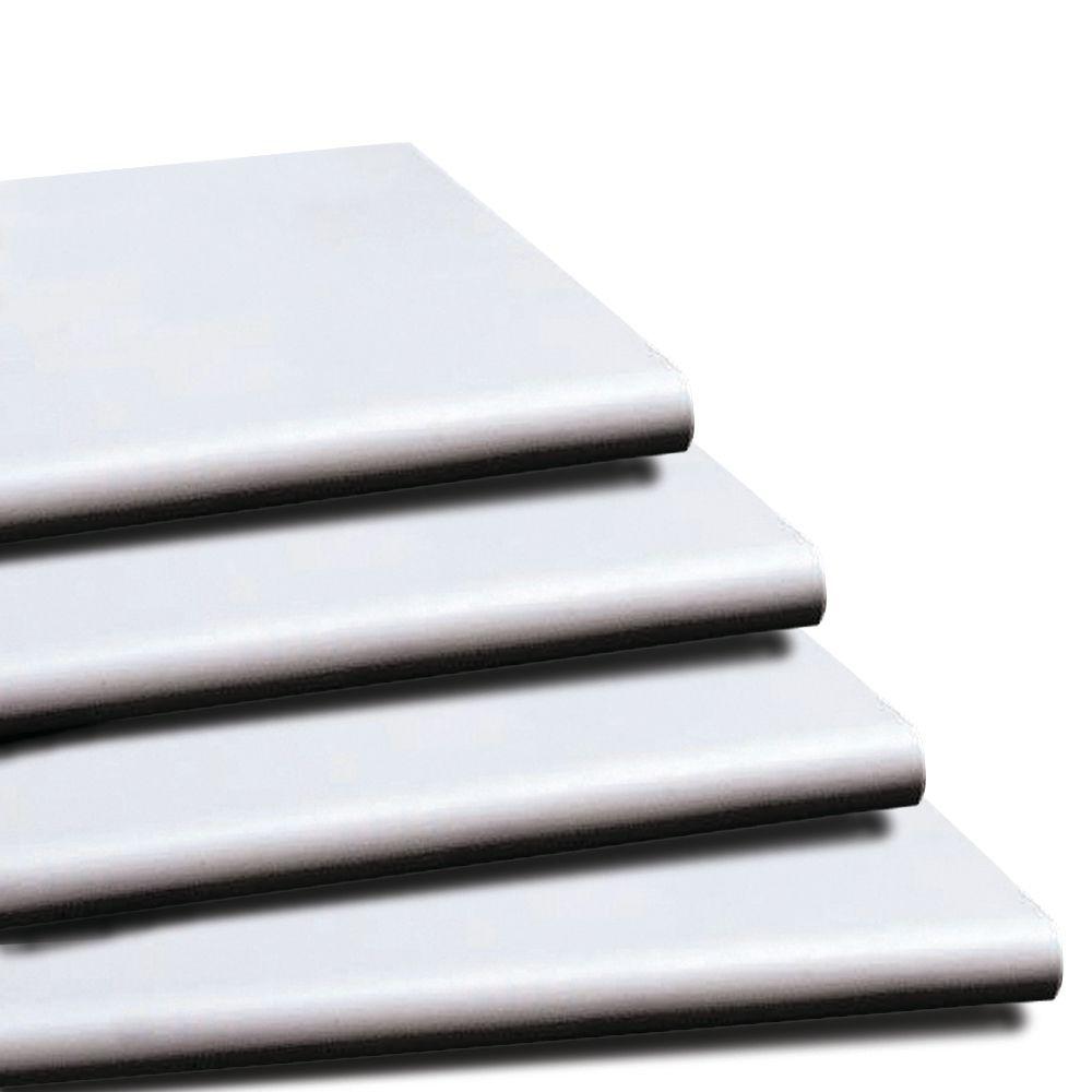 """Duron Bullnose White Plastic Shelves 48"""""""