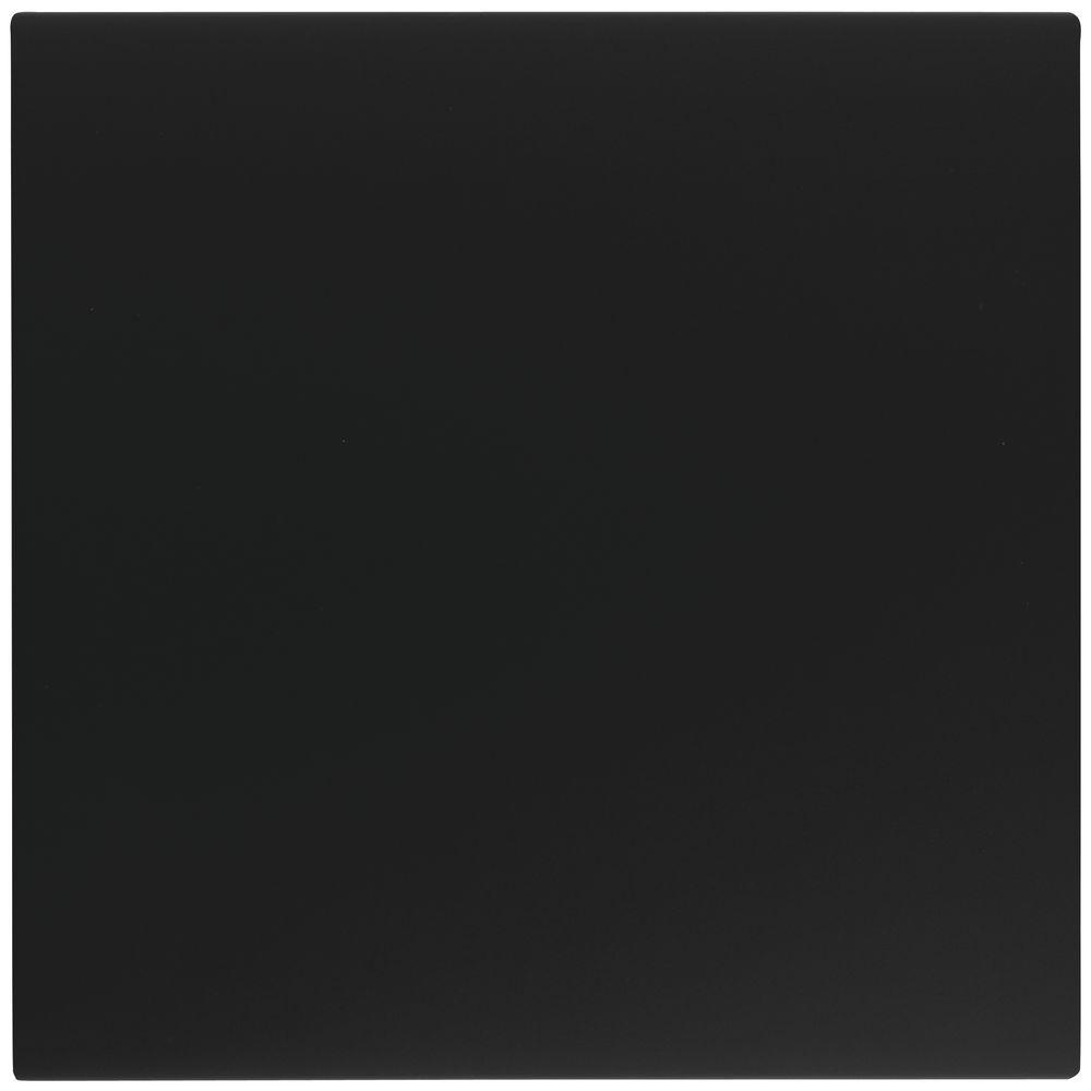 FACE PANEL, SLATTILE, PLASTIC, BLACK, SQUARE