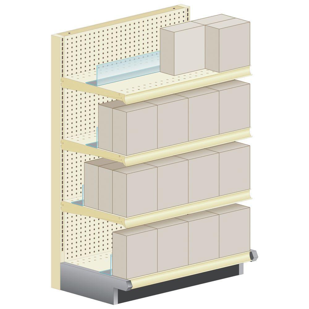 Shelf Holders Create a False Back.