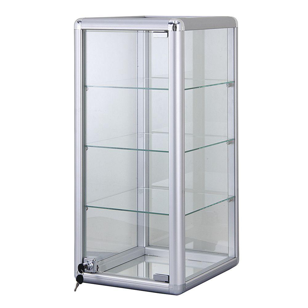 3 Shelf Aluminum Frame Showcase