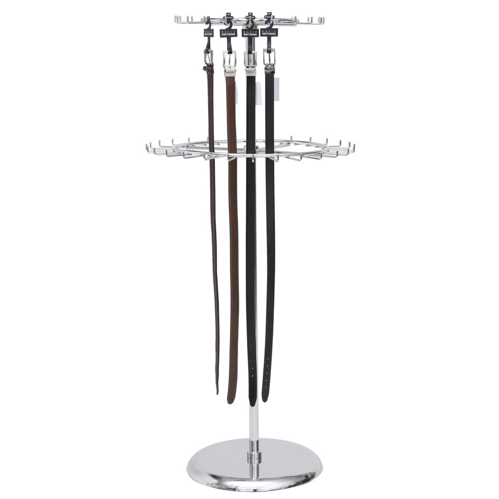 2 Tier Revolving Belt Rack