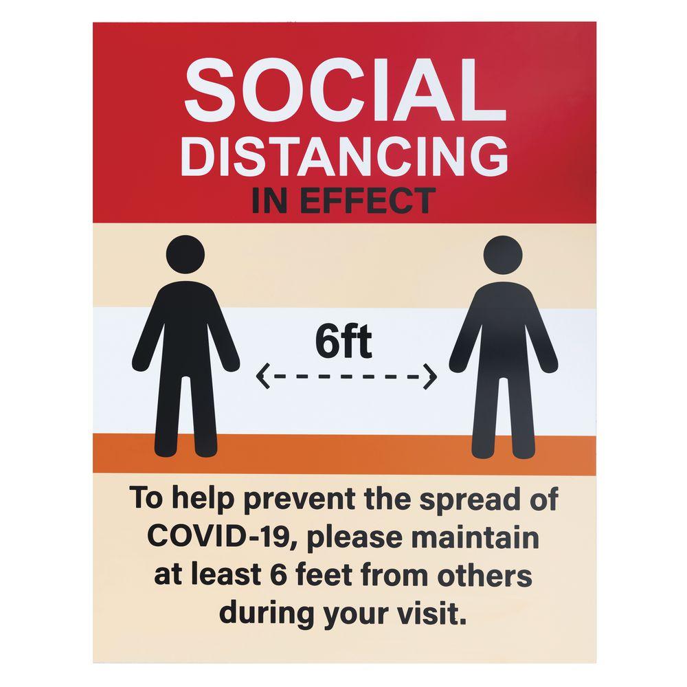"22"" x 28"" Social Distancing Sign"
