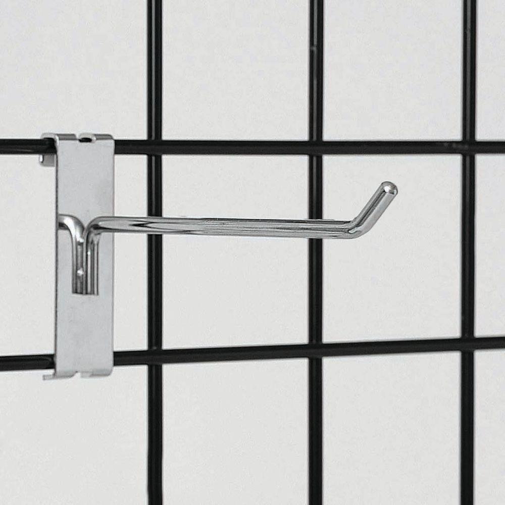 Chrome Grid Wall Hooks