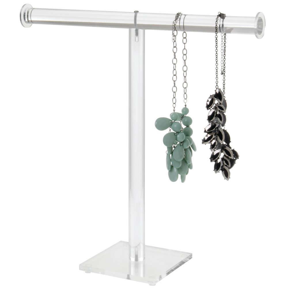 """T-Bar Acrylic Necklace Stands 15"""" H"""