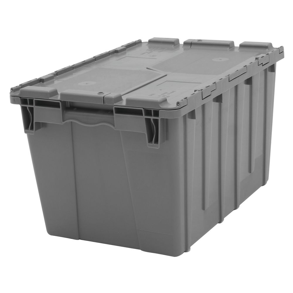 Grey Plastic Storage Bins 22 X 15 X 13