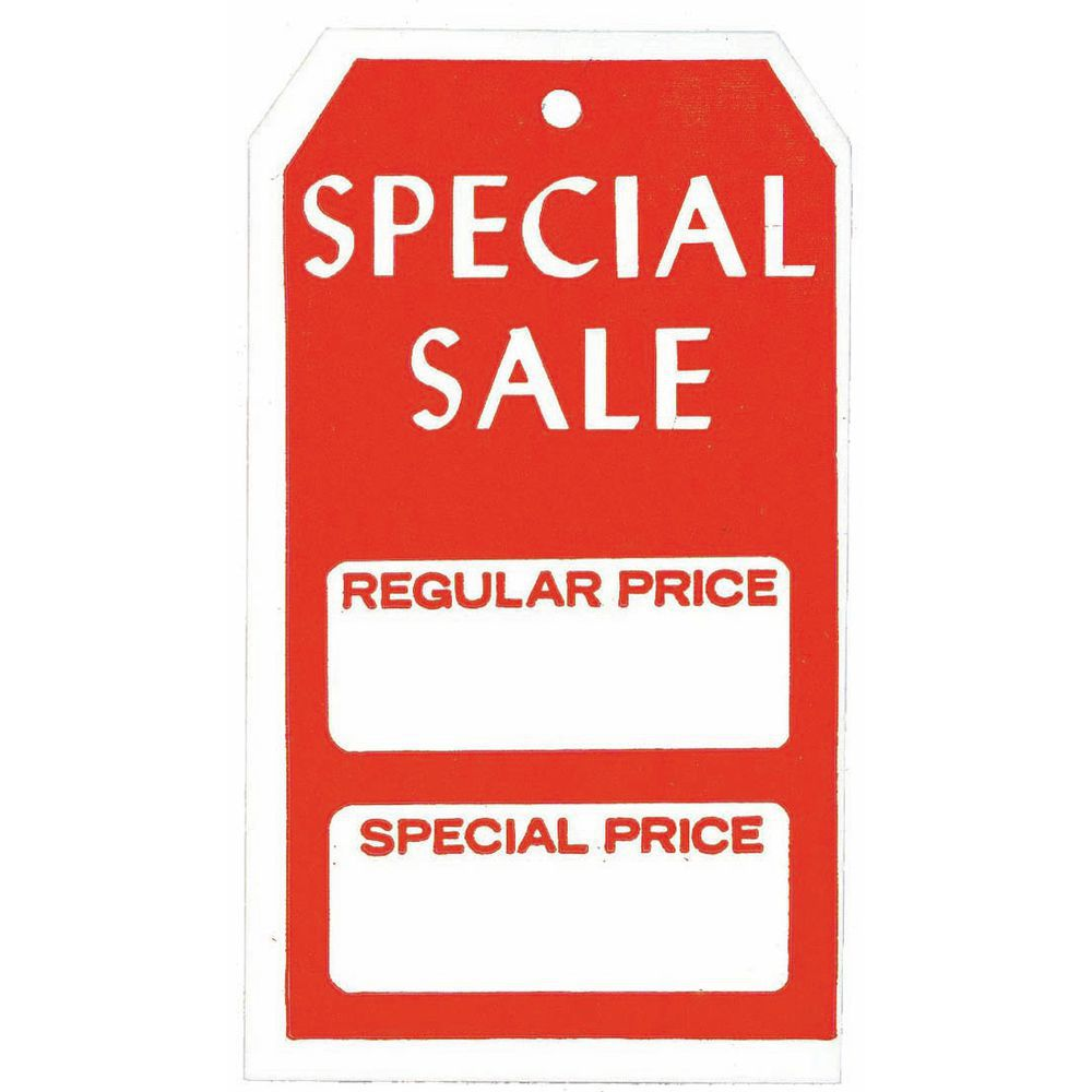 Special Sale Price Tags (Reg/Special)