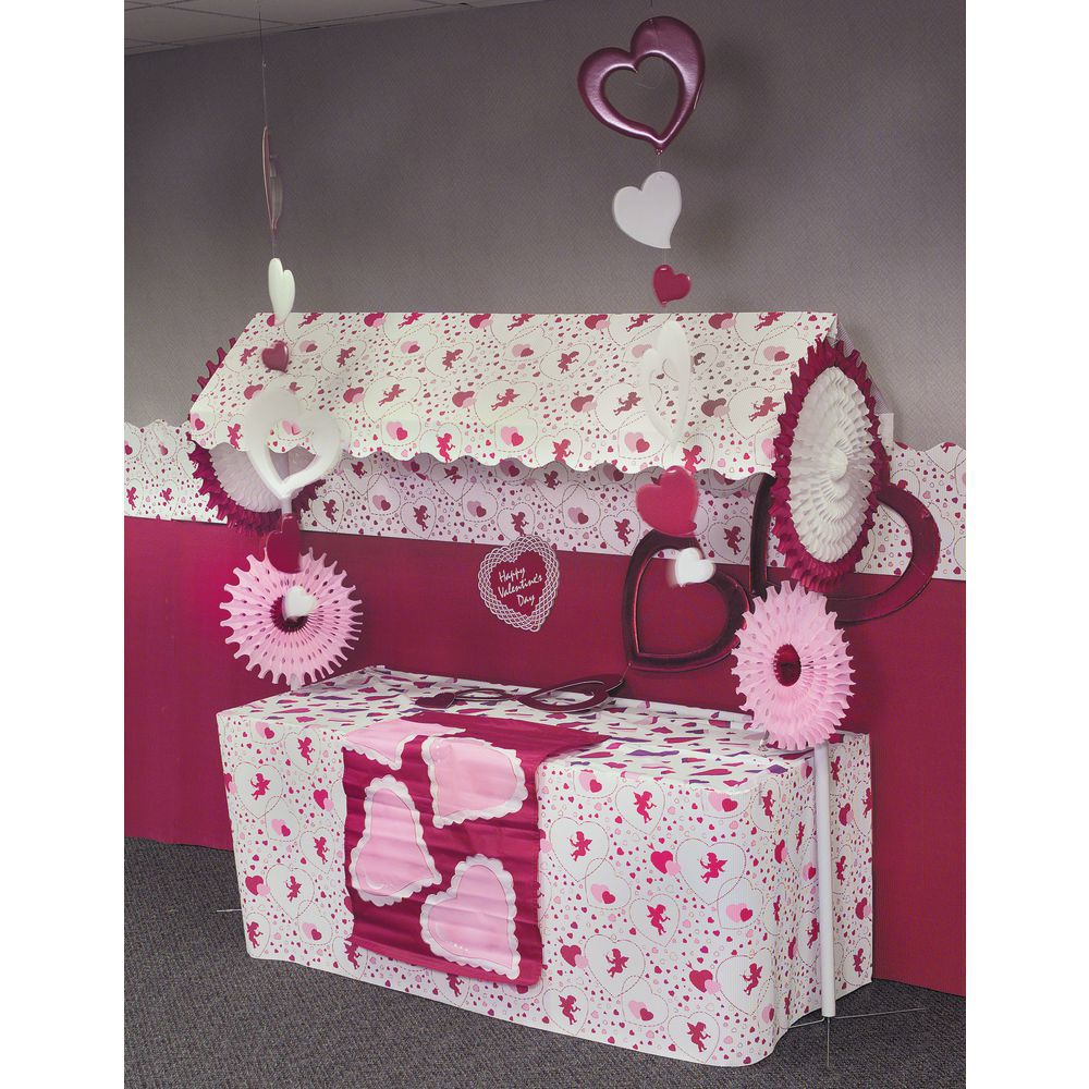 "COUNTERWRAP, CUPID + HEARTS 48""X25"