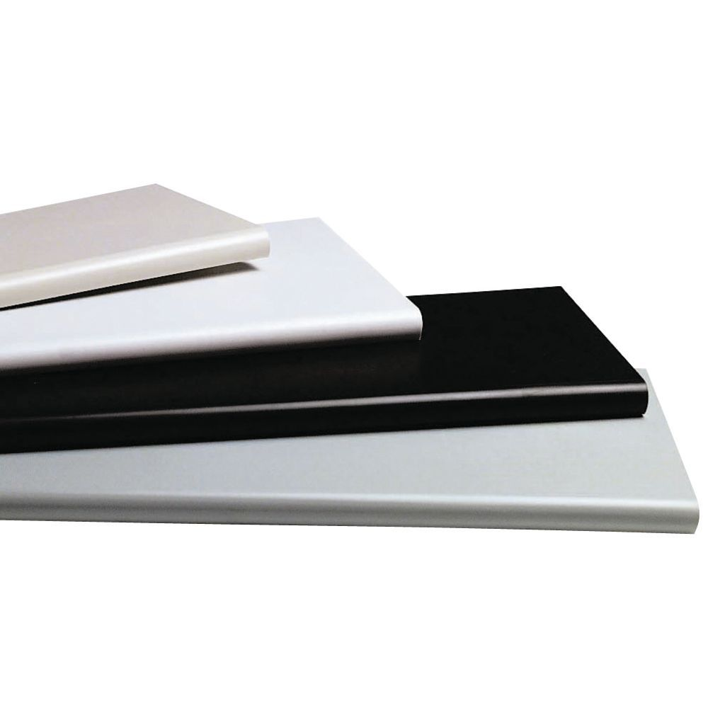 "Duron Bullnose White Plastic Shelving 24"""