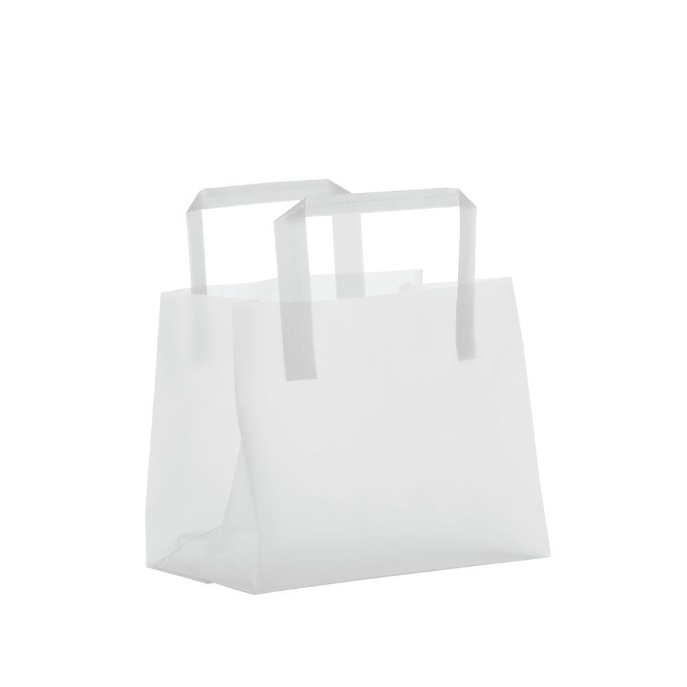BAG, CLEAR FROSTED, 8 X 4 X 7