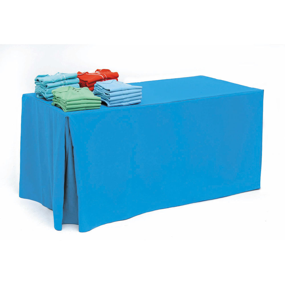 Turquoise Fabric Tablecloth for 6ft Tables