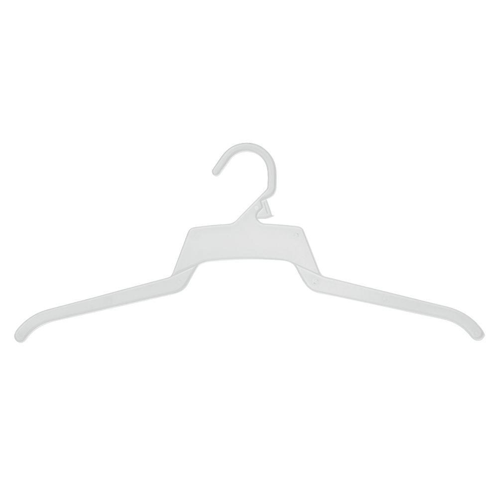 White Hangers 18 Inch Plastic