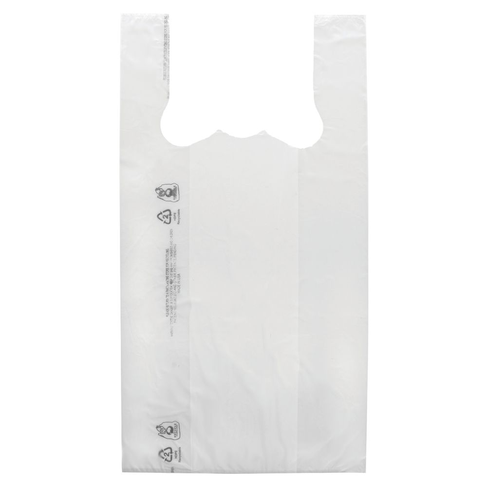 BAG, T-SHIRT, HDPE, 1/6 BARREL, PLAIN