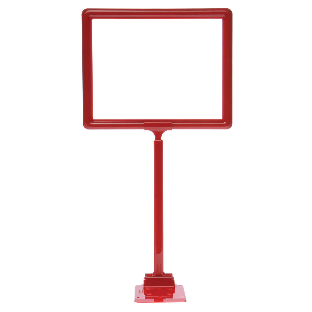 """11 x 8 1/2 Display Sign Stand, Red, Adjust 12""""-22"""""""