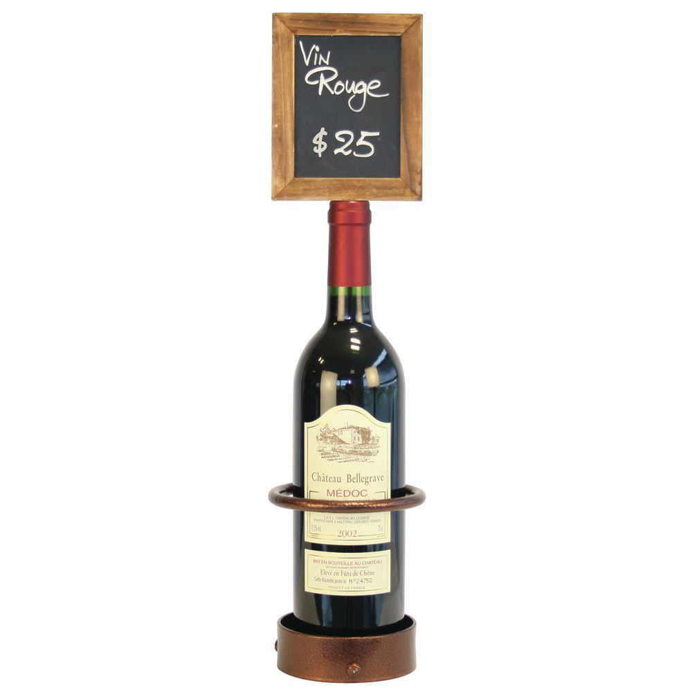 Unique Wine Bottles: Single Wine Bottle Display With Sign
