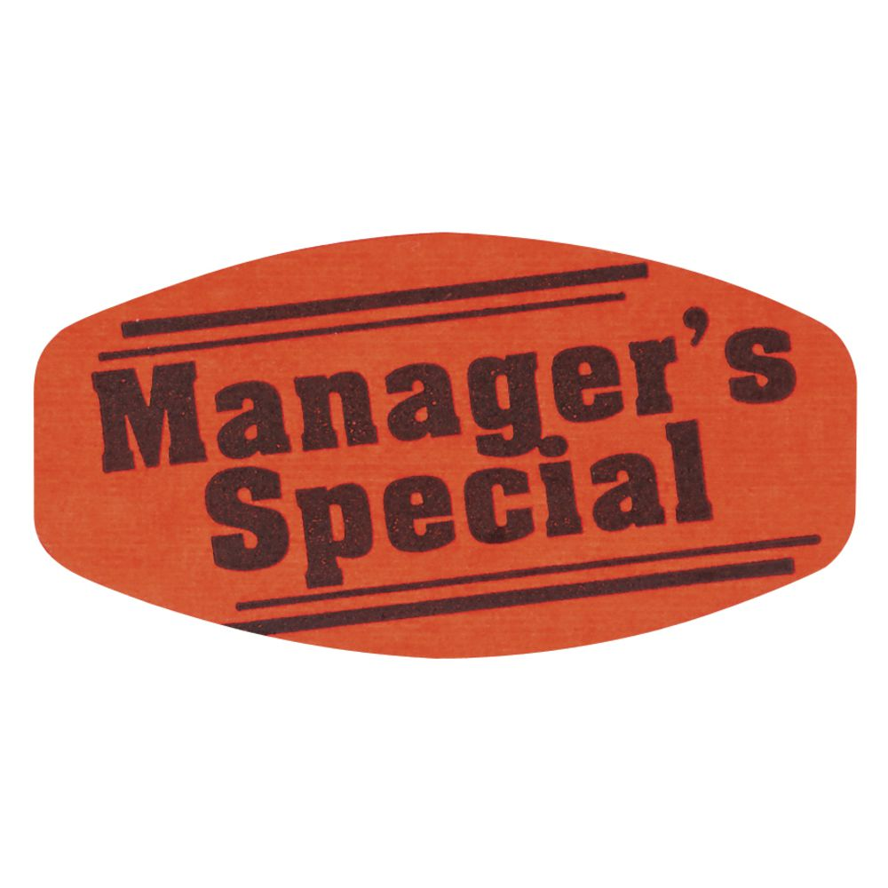 Manager's Special Fluorescent Grabber Grocery Store Labels