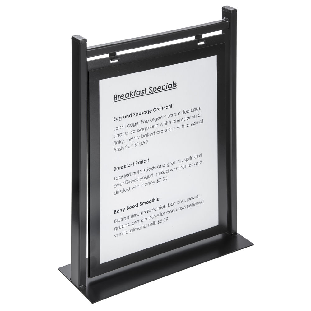 """Double-Sided Hanging Countertop Sign Holder 8 1/2""""L x 11""""H Inserts"""