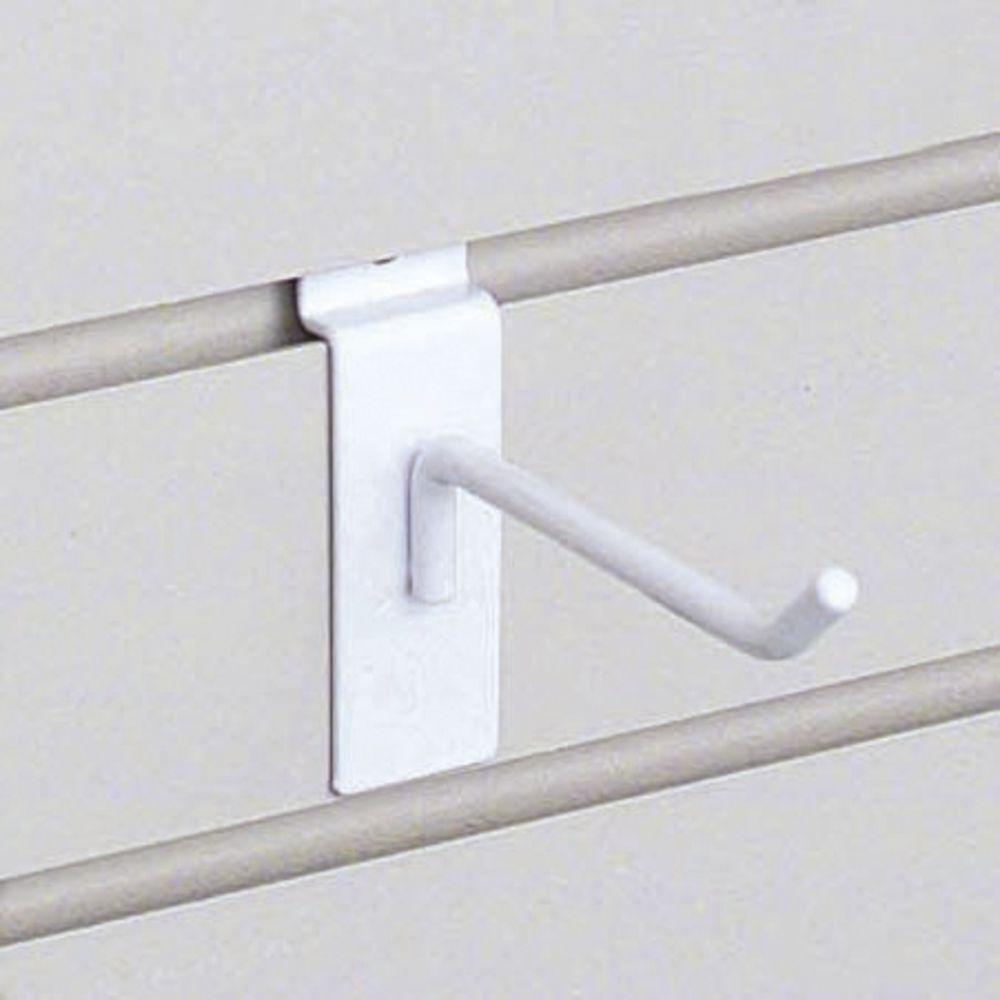 """4"""" White Slatwall Hooks"""
