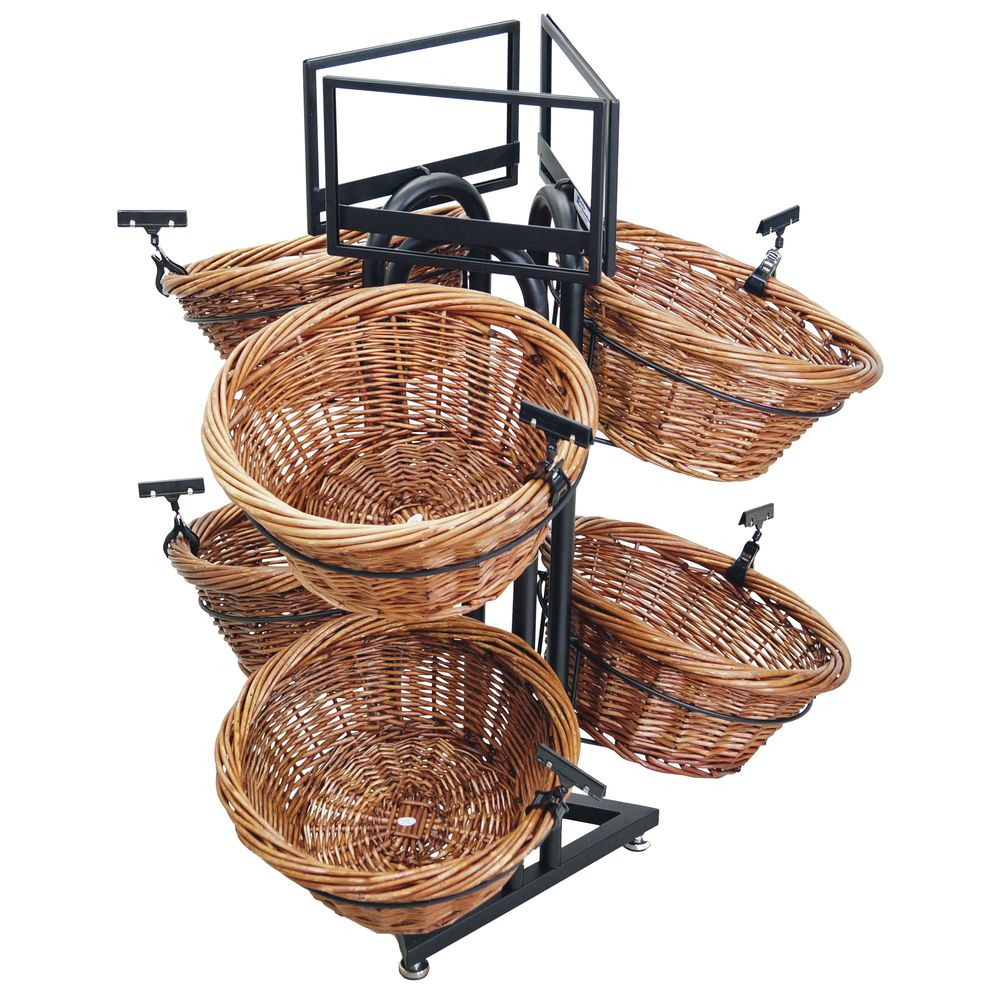 MDSER, FLOOR, WICKER, 6-BASKET W/S.FRM