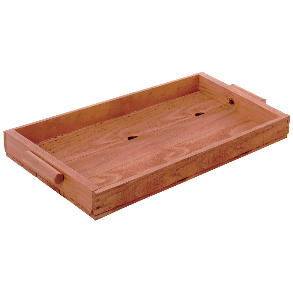 TRAY, PINE, HANDLES, CHERRY, LARGE
