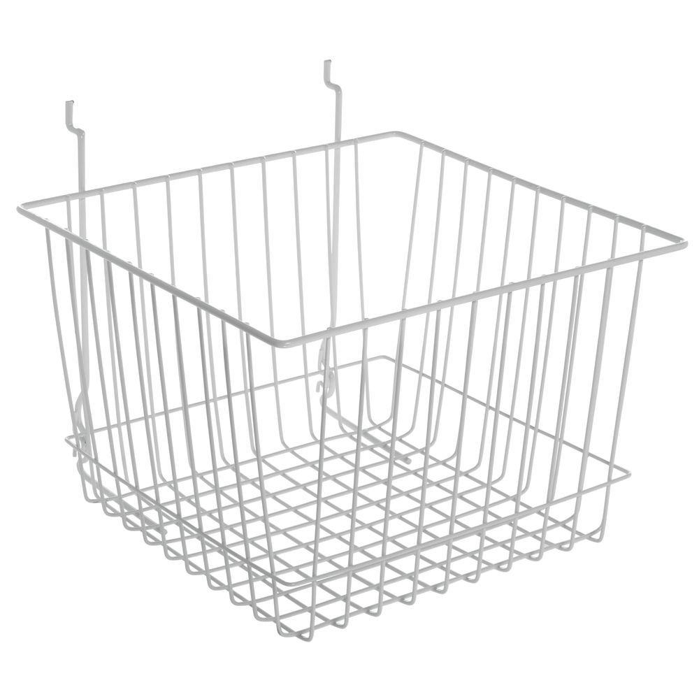 Metal Basket with a White Façade